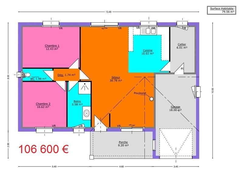 mpc maisons du pays charentais maisons maisons traditionnelles capucine. Black Bedroom Furniture Sets. Home Design Ideas