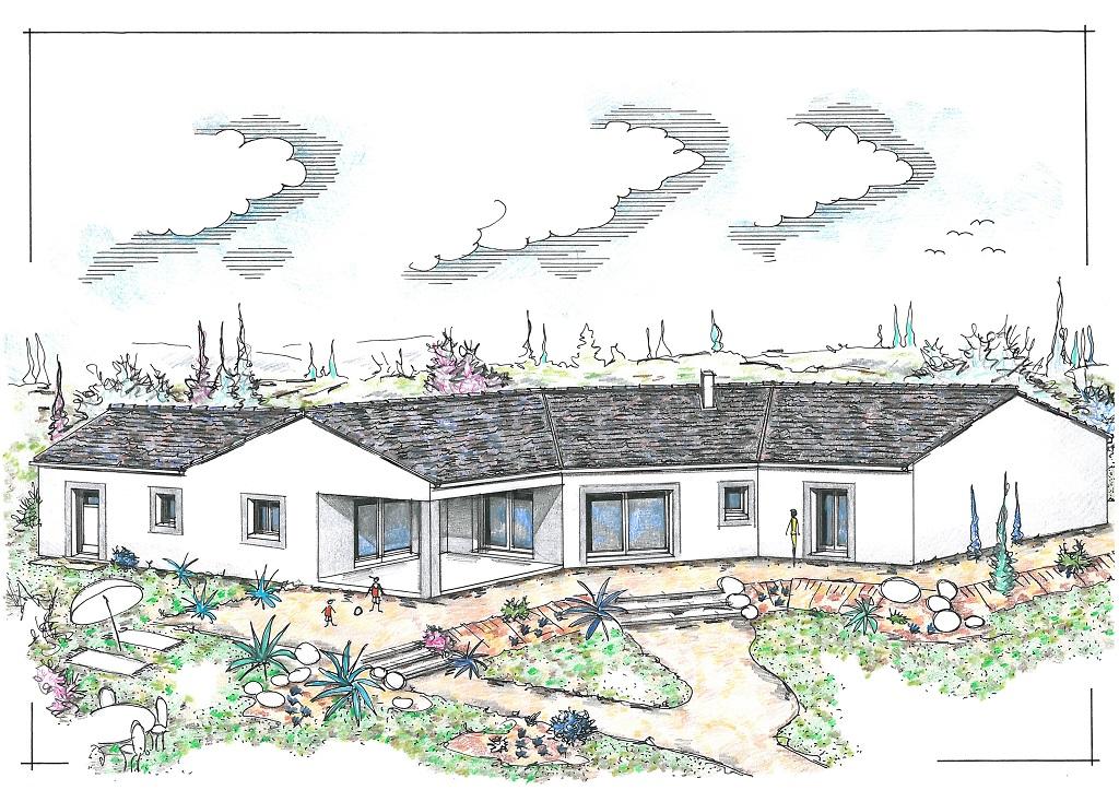 mpc maisons du pays charentais maisons maisons traditionnelles hortensia. Black Bedroom Furniture Sets. Home Design Ideas