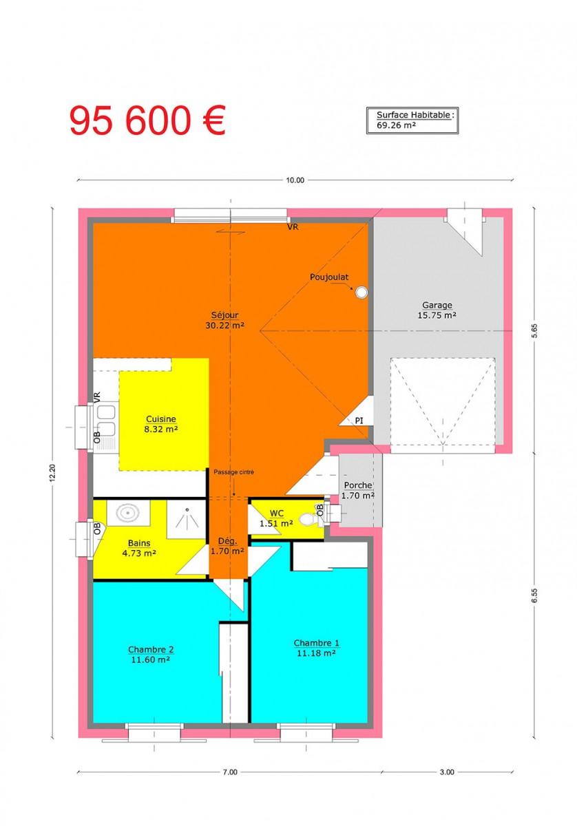 mpc maisons du pays charentais maisons maisons traditionnelles jonquille. Black Bedroom Furniture Sets. Home Design Ideas