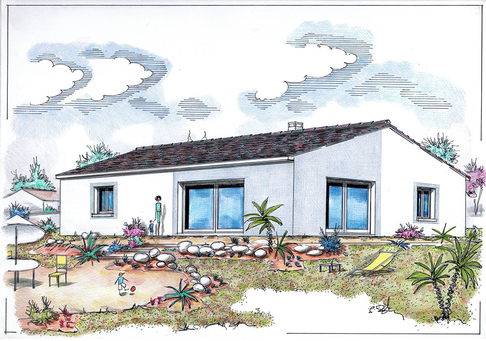 mpc maisons du pays charentais maisons maisons traditionnelles tulipe. Black Bedroom Furniture Sets. Home Design Ideas